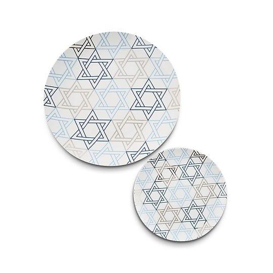 Crate & Barrel Hanukkah platter and plate.