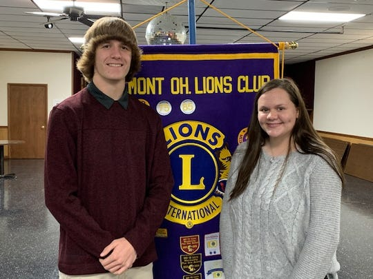 Travis Bowlus, left, was tapped as a Fremont Lions Club Student of the Year and Scholarship winner.