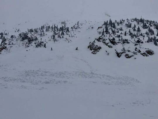 Shown is the avalanche on South Diamond Peaks at Cameron Pass that killed a Fort Collins woman on Dec. 8.