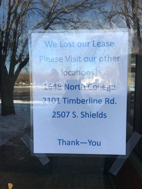 A sign posted in the door at the former South College Avenue Burger King on Dec. 16.