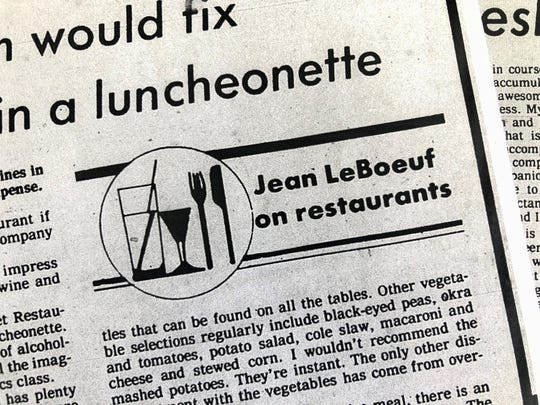 The Jean Le Boeuf byline first appeared in The News-Press on Dec. 21, 1979.