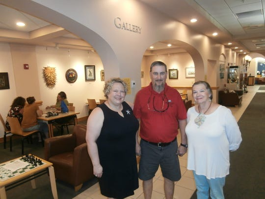 Works by SWFL Fine Craft Guild President Christine Vogensen and members Mike Ziegler and Dee Cooper are among the 70-plus on display at the Cape Coral Library gallery through Dec. 31.