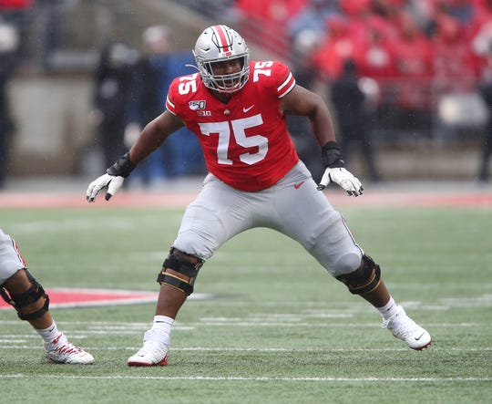 Ohio State offensive lineman Thayer Munford (75)