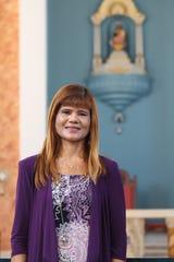 Gilda Treltas stands in the Dulce Nombre de Maria Cathedral Basilica Dec. 6.