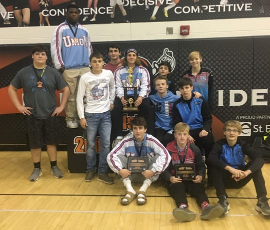 Union County's wrestlers were the runners-up in Saturday's Ryle Raider Rumble in Union, Ky. The Braves had three individual division winners.