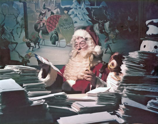 "Each year, thousands of letters from across the globe addressed to Santa Claus make their way to the small town of Santa Claus, Ind., where a group of volunteers work to respond to each one. The ""Chief Elf,"" Pat Koch, is the daughter of Santa Jim Yellig, who began coordinating volunteers to help respond to the letters around 1930."