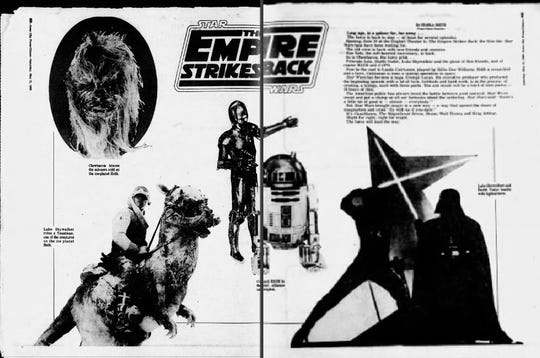 "A spread from the May 31, 1980, edition of The Press-Citizen due to the release of the then-new ""The Empire Strikes Back."""