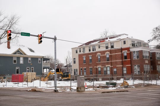 Construction continues on the former site of a Village Pantry at the corner of South and 9th Streets, Monday, Dec. 16, 2019 in Lafayette.