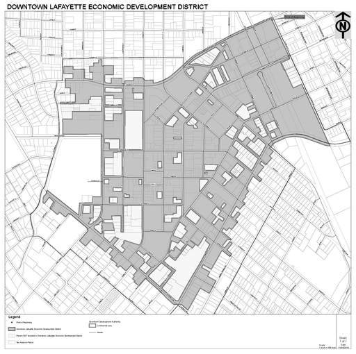 A proposed sales tax district around downtown Lafayette would raise sales taxes within the district by one cent if approved by Lafayette's City-Parish Council.