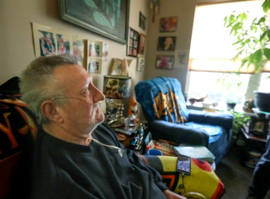 Pete Thieneman delivers to Dave as part of the Meals on Wheels program. Dec. 12, 2019
