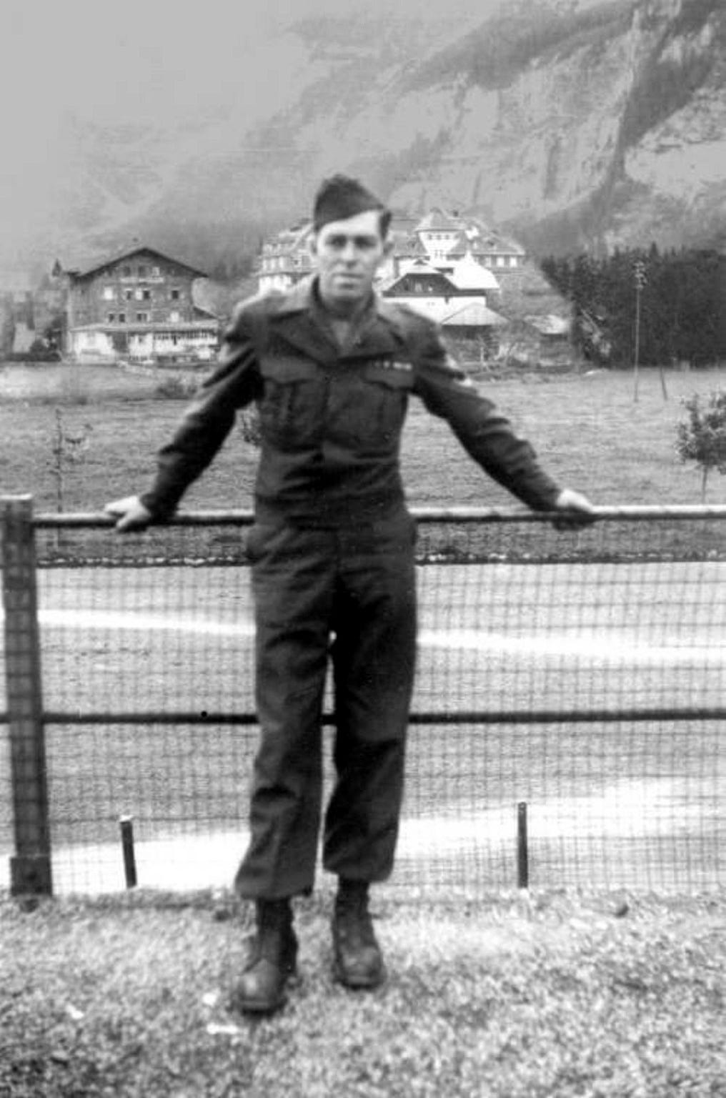 Raymond McDonogh, 1945, in Switzerland at the end of WWII.