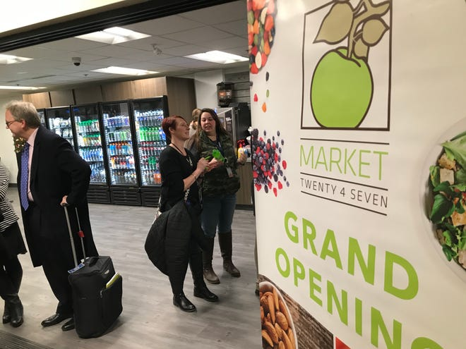 A new self-checkout market opened Monday at the Capital Region International Airport in Lansing.