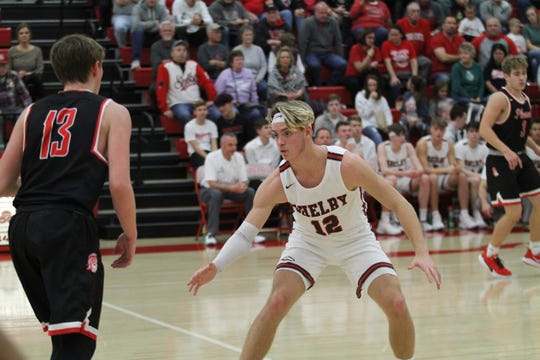 Shelby's Grant Gossom's will and determination makes him one of the best defenders in the area.