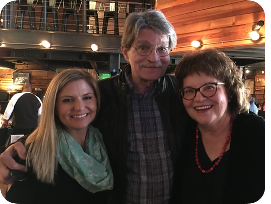 Jud Phillips with Halley Phillips and Linn Sitler, Memphis and Shelby County Film commissioner