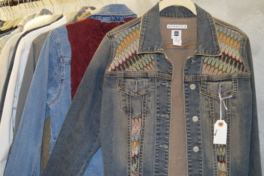 Wisconsin products at Juli & Boutique include jean jackets from Nora's Dream Creations, which is out of Port Washington.