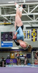 Arrowhead's Lily Stemper competes on the floor during the 2019 Cooney Gymnastics Invitational at Oconomowoc on Saturday, Dec. 14.