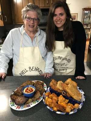 Lorie Wertheimer and her daughter Molly have proudly incorporated cheese into their Hanukkah menu.