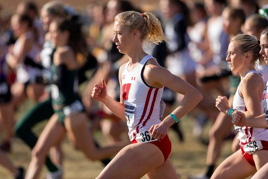 Alicia Monson wins the NCAA Great Lakes Regional NCAA cross country meet at Zimmer Championship Course on Friday November 14, 2019.