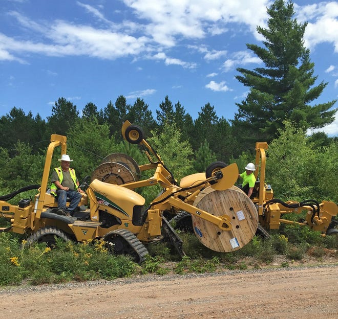 Underground cable is installed in Vilas County.