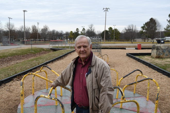 Flippin Mayor Gerald Marberry says one of the reasons city officials want a sales tax increase is to allow the city to replace playground equipment, lights and water fountains at the city's park.