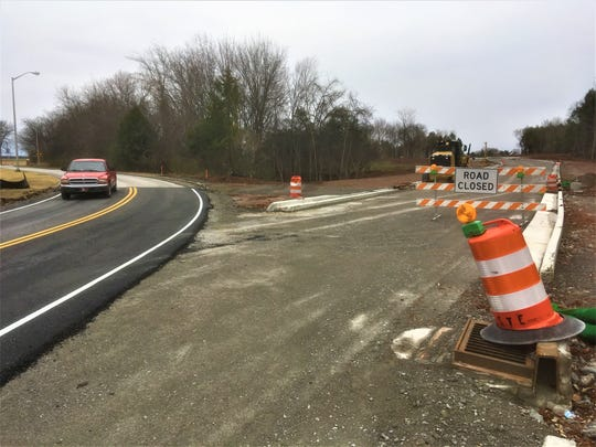 Driver passes the Nolan Drive relocation project (Dec. 10, 2019) in Smyrna.