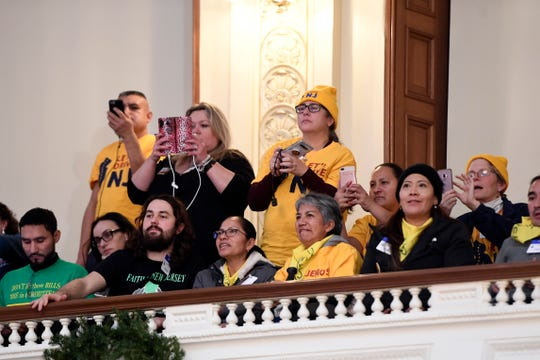 Supporters of the undocumented driverÕs license bill wait for the assembly to vote in the New Jersey Statehouse on Monday, Dec. 16, 2019, in Trenton.