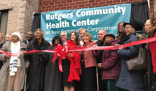 First Lady Tammy Murphy joined by local leaders and community advocates celebrates the opening of the Rutgers Community Health Center on Dec. 16, 2019.