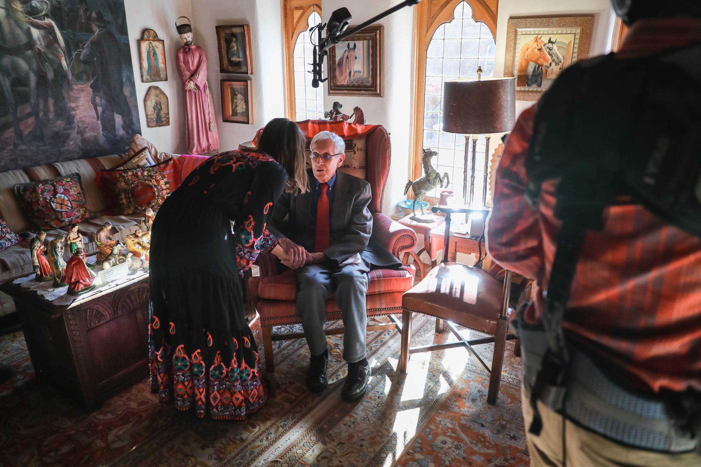 J. Paul Taylor is interviewed inside the Taylor family home in Las Cruces on Sunday, Dec. 15, 2019.