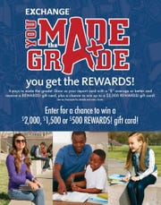 Calling all young scholars! High marks pay off with the Exchange's You Made the Grade program.