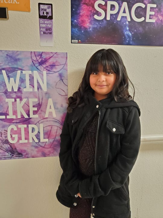 Sandra Rivas is December's Student of the Month at White Mountain Elementary.