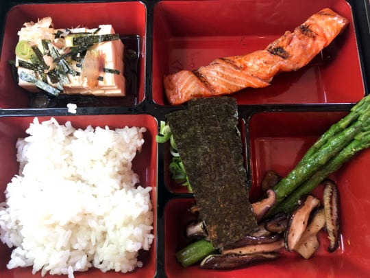 The Bento is served at French Miso Cafe in Palm Springs, Calif. on April 14, 2019.
