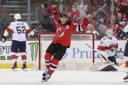 New Jersey Devils left wing Taylor Hall (9) has been linked to the Arizona Coyotes in NHL trade speculation.