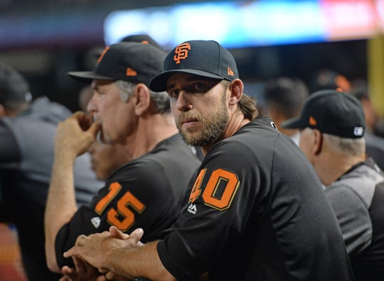 Madison Bumgarner (40) is coming to the Arizona Diamondbacks. How do you feel about it?