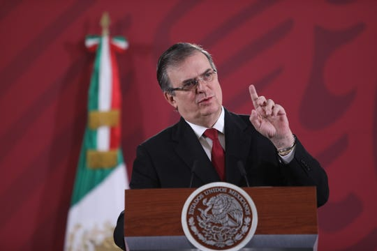El canciller de México, Marcelo Ebrard, habla en la rueda presidencial diaria este lunes en Ciudad de México (México).