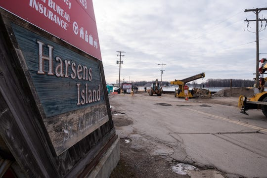 The dock for Champion's Auto Ferry in Algonac collapsed in December. A passenger ferry was operating to transport people to and from Harsens Island.