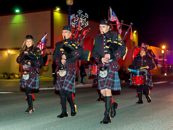 The Mason Valley Pipes and Drums perform.