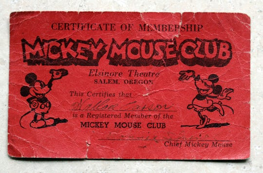 Former Oregon Supreme Court Justice Wallace P. Carson, Jr. still carries his Mickey Mouse Club membership card in his wallet. He remembers going to the Elsinore on Saturday mornings to watch the entertainment.
