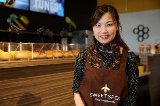 Co-owner Sandy Shen at Sweet Spot Fruit Tea & Desserts in Salem on Dec. 16, 2019.
