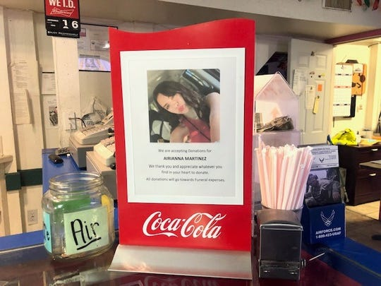 Hidalgo's West, 3108 Sherwood Way, is holding a fundraiser for Airianna Laney Martinez, a 17-year-old Central High School student, who died in a fatal crash on Sunday, Dec. 15.