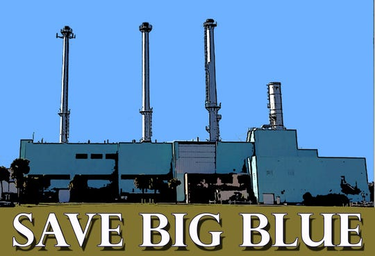 A bumper sticker was created in December 2019 to support the effort to preserve Vero Beach's old power plant on the northeast side of 17th Street and Indian River Boulevard.