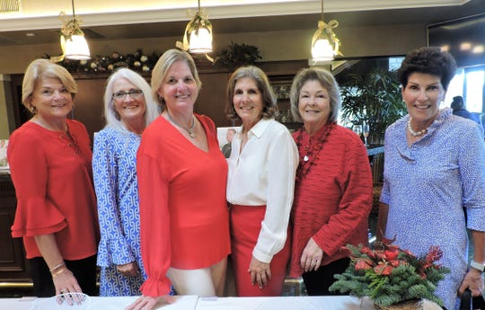 Margaret Hickey, left, Michele Bragg, Pattie Dunn, Pam Van, Mary Simpson and Jill Paton at the 4Cs Christmas Cookie Competition & Luncheon at Mariner Sands Country Club in Stuart.