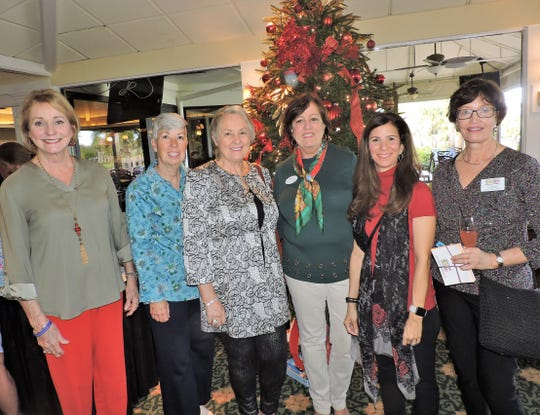 Kathryn Schmidt, left, Laura Essenboss, Paula Rosen, Sharon Mason, Tiann Berhoff and Jo Baxter at the 4Cs Christmas Cookie Competition & Luncheon at Mariner Sands Country Club in Stuart.