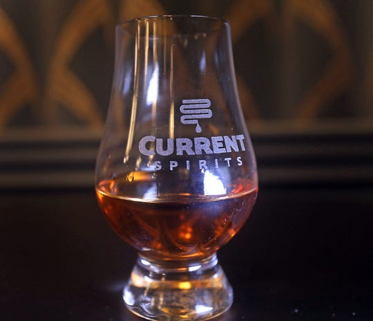 Bourbon, made with 100% New York grown grains, at Current Spirits, a new distillery by Scott Vaccaro, the owner and founder of Captain Lawrence Brewing in Elmsford.