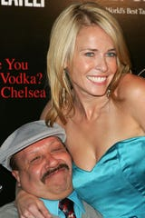 Mexican American actor Chuy Bravo, 63, Chelsea Handler's sidekick on 'Chelsea Lately' has died. Bravo and Handler attend the Chelsea Handler Book Party at CoCo de Ville on April 30, 2008, in West Hollywood, California.