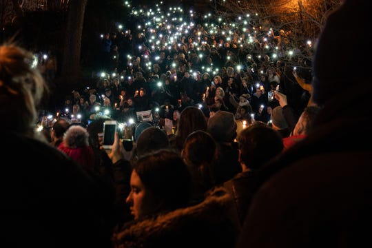 More than 1,000 people attend a candlelight vigil for murdered Barnard College student Tessa Majors on December 15, 2019 in New York City.