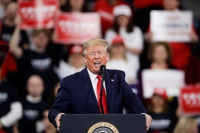 President Donald Trump during a campaign rally in Hershey, Pa., on Dec. 10, 2019.