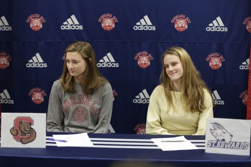 Carolina Day School standouts Ella Dockendorf and Olivia Sutter committed to play college sports during a signing ceremony last week.