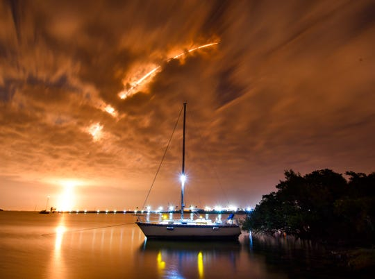 SpaceX launches its Falcon 9 rocket Dec. 16, 2019 from Cape Canaveral Air Force Station Launch Complex 40. Onboard the rocket was the JCSAT-18 / KACIFIC-1 communications satellite that will provide internet coverage to Asia and the Pacific.