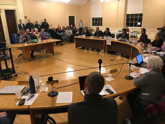 Charles Winkleman speaks to Burlington City Council about his experience being targeted by Police Chief del Pozo's anonymous twitter account on Dec. 16, 2019.