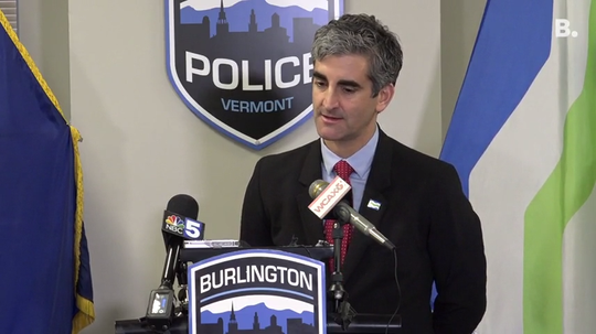 Burlington Mayor Miro Weinberger said he's never used a fake social media account. He made the statement Monday, Dec. 16, 2019.
